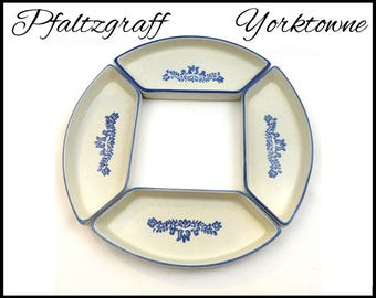 Vintage Pfaltzgraff Yorktowne Lazy Susan, Set of 4 Bowls, Yorktown Bowl, Number 735-51, Lazy Susan Bowls, Gift for Her, Gift for Collector