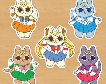 Sailor Moon Cat Stickers / Sailor Senshi Kitties (Individual)