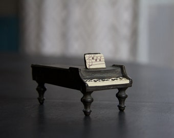 Vintage Black Dollhouse Piano