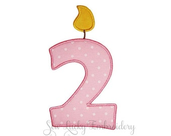 Birthday Patch - Candle Patch  -  Number Patch - Iron on Patch - Sew on Patch - Applique Patch - Iron on Applique - Patch - Birthday