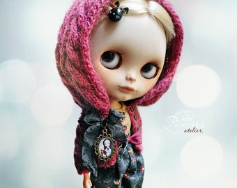 Blythe/Pullip Ooak Set Jacket With Hood And Bloomers SECRET FRIEND By Odd Princess Atelier, Vintage Collection