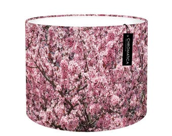 Lamp Shade - Pink Cherry Blossom. Photography lampshade, spring, flowers, bloom, blossom, purple, decor, drum.