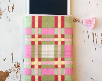 Tablet Case Pink Tablet Holder Felt Bag Felt Tablet Case iPad Case Zipper Case 8 inch Tablet Case Ebook Sleeve E-reader Sleeve