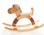 Wooden Toy, Rocking Horse, Personalized Kids Toy