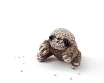 sloth stuffed animal - crochet amigurumi plush