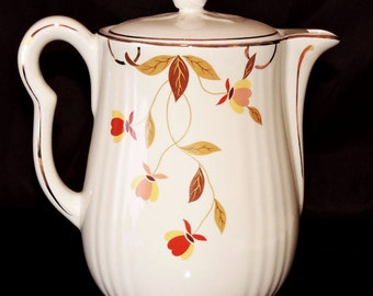 Hall Autumn Leaf Jewel Mary Dunbar 8 Cup Coffee Pot Chocolate Pot Unused Vintage