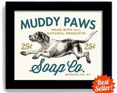 Laundry Room Decor Dog Art Laundry Sign Bathroom Wall Art Kitchen Art Mud Room Dog Wash Laundry Sign Washing Machine Laundry Soap Art