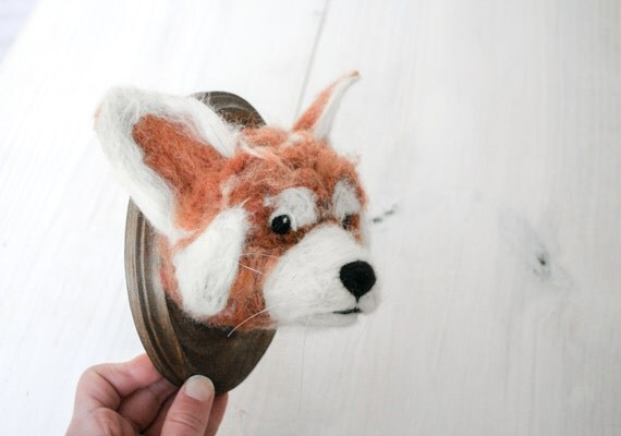 Red Panda Felt Faux Taxidermy