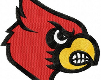 Louisville Cardinals Embroidered Iron On Patch