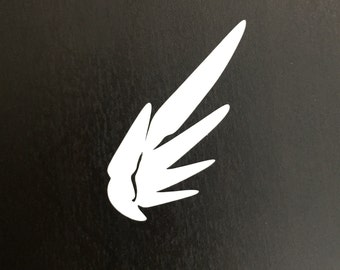 Mercy Wing Overwatch Decal | Sticker | Vinyl | Car, Wall, Window or Laptop Decoration | Cute!