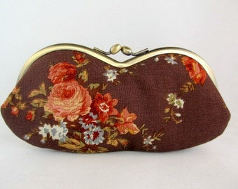 Soft Eyeglass Case - Eye Glass Case - Cottage Chic - Sunglasses Case - Cute Glasses Case - Sunglass Case - Glasses Case Kiss Lock