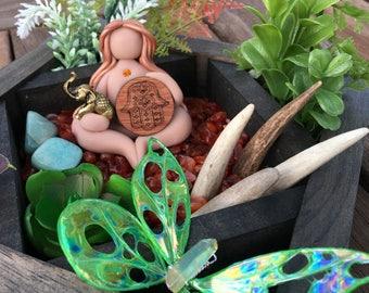 The Elephant Guardian Goddess~ Zen Garden, spell Goddess, stone collection, crystal garden, peace garden, garden goddess