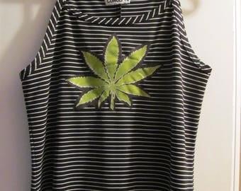 POT leaf maxi dress