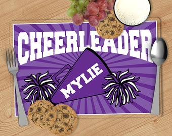 Cheerleader, Cheer - Kids Personalized Placemat, Customized Placemats for kids, Kids Placemat, Personalized Kids Gift