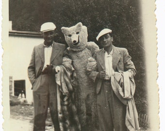 the Bear Facts costume found art photo vernacular photography social realism vintage original