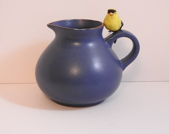 Large Dansk Blue Mesa Water Pitcher