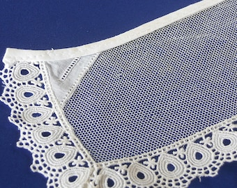 """14""""x3 1/2"""" Vintage Pale Ivory Lace Piece, Antique Lace, Lace Collector, Perfect for Doll Costuming"""