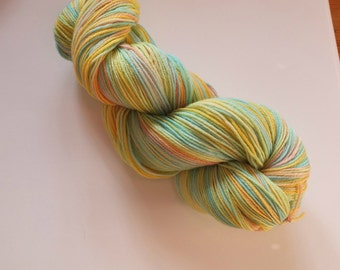 Spring -  Uniquely Hand Painted/Dyed 4ply Sock Yarn.
