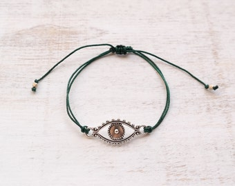 Evil Eye Protection Bracelet- silver