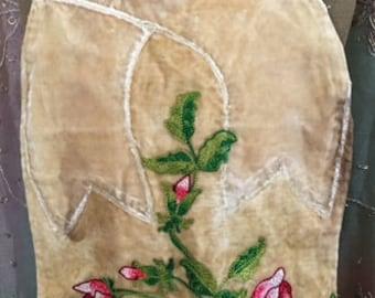 1920's Floral Stitched Piece