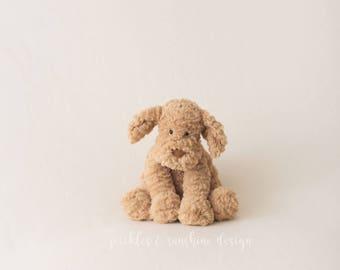 Vanilla Cream fuzzy Teddy Bear fleece backdrop for newborn photography, bean bag backdrop fabric, soft with stretch, use alone/ under layers