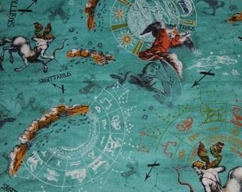 Sagittarius, New Dawn Sagittarius, Horoscope Fabric, Sagittarius Fabric, Zodiac Signs, Astrology Fabric, New Dawn by Fabri Quilt, 01066A