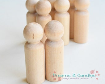 """25 Miniature Wooden Little People Dad 3 9/16"""" -Called Dad or Grandpa- Miniature Wooden Little People -Wooden Dolls -Unfinished Wooden Dolls"""