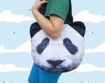 Panda bag, panda lover bag,  bag, shoulder bag, tote bag, pet bag, pet lover bag, animal bag, GR 1168