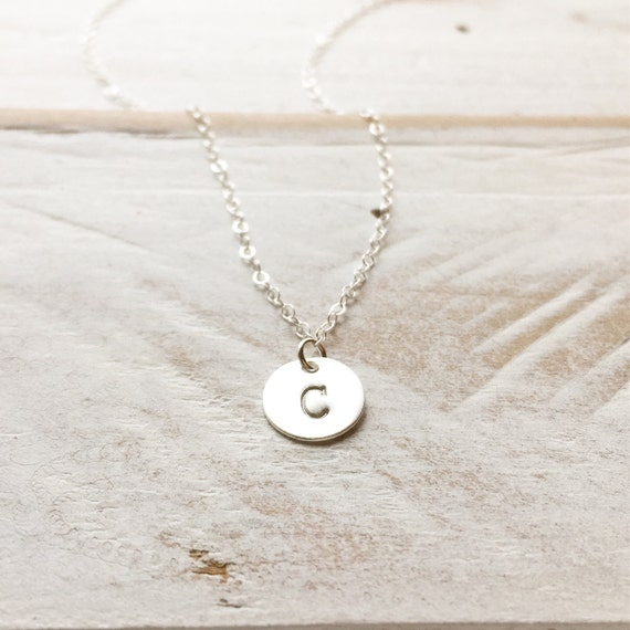 Custom Initial Necklace, 925 Sterling Silver Initial Necklace, Personalization Gift, Bridesmaid Gift, Mothers Day Gift, Best Friends Gift
