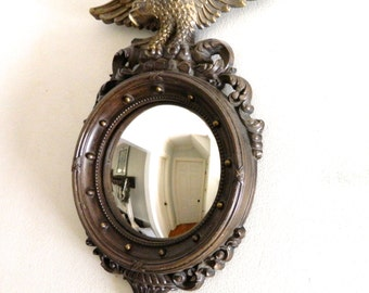 Vintage Federal Eagle Convex Mirror