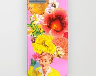 "Collage ""Too Much?"" Vintage Floral Phonecase - for IPhone and Samsung Galaxy."