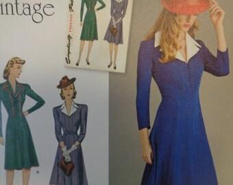 Simplicity 8050- WWII Era, 40's Gown, Vintage Gown, Evening Dress, Formal Dress, Sunday Dress, Tea Dress, Vintage Fashion-Sizes 14-22