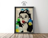 Oh Dear Dorothy Wizard of Oz Judy Garland Print on an Unframed Upcycled Bookpage