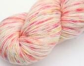 "Kettle Dyed Sock Yarn, Superwash Merino, Nylon and Stellina, in ""Sprinkles"""