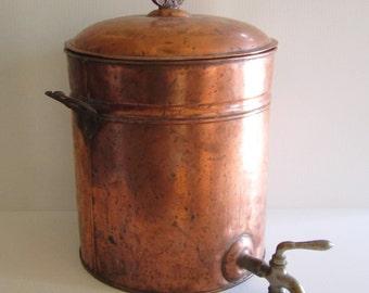 Antique Kreamer Copper Drink Dispenser Samovar