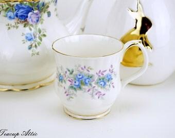 Royal Albert Blue Blossom Mug, Vintage English Bone China Mug, ca. 1989-1998