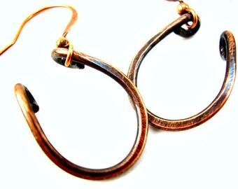 Horseshoe Earrings Copper Earrings Horseshoe Jewelry Horse Shoe Jewelry Horse Shoe Earrings Western Jewelry Equestrian Jewelry Cowgirl
