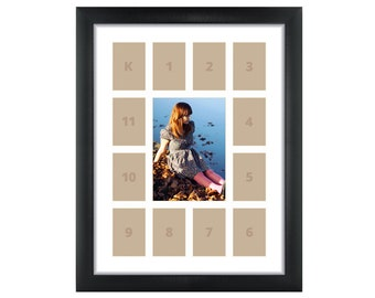 craig frames 12x16 inch black school years frame single white collage mat with 13 openings 500121601c32a