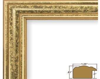 """Craig Frames, 16x20 Inch Vintage Gold Picture Frame, Goldstone 1.25"""" Wide (599450001620)"""