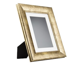 craig frames 85x11 inch vintage gold standing picture frame mat with 6x9 inch single opening 2 wide 2123158511easel1