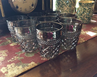 Wexford Pewter Mist Glasses, Vintage , Low Ball