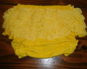 Bright Yellow Lace Ruffle Diaper Covers CLEARANCE Liquidation Sale