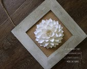 RESERVED for Jilly: paper dahlia || 5 5/8'' mini dahlia wall decor || origami gift || gift for her -rich purple