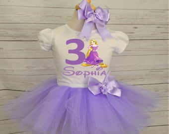 Rapunzel birthday outfit, FREE SHIPPING, tangled birthday outfit,  purple, lilac, disney princess, birthday girl, birthday outfit, rapunzel