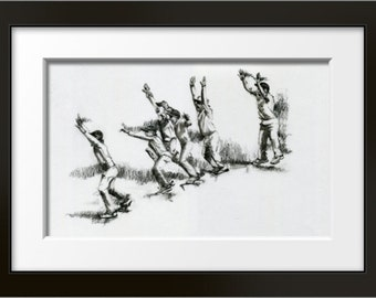 SlipScream - cricket fine art limited edition print, cricket print, cricket art, cricket gift, cricket lover, gift for cricketer, sports art