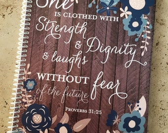 Prayer Journal - Jesus - Bible Journaling - Journal - Christian gift - Scripture Journal - **Navy Woodgrain**