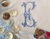 Embroidered Initials, Embroidered Monograms, Quilt Squares, Embroidered Letters, UK Seller, Sewing Supplies, Personalised Letters