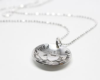 Claddagh Necklace // Personalized Necklace // Handstamped Necklace