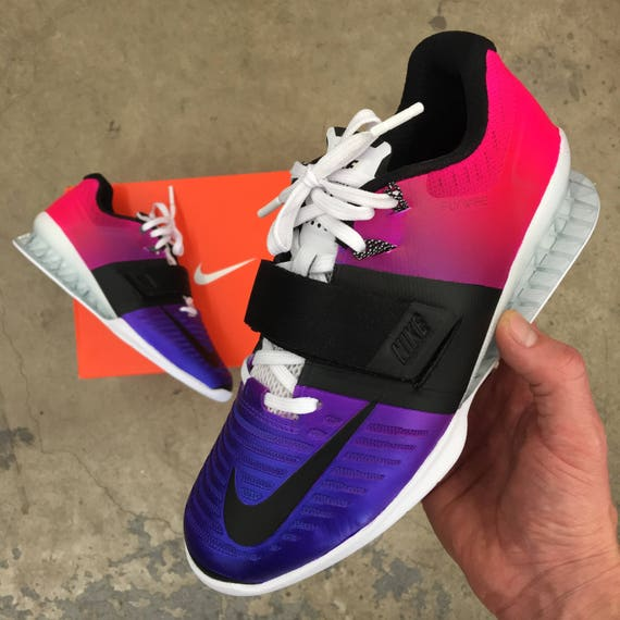 quality design e37e7 70467 Custom Painted Nike Romaleos 3 Weightlifting Shoes 30%OFF