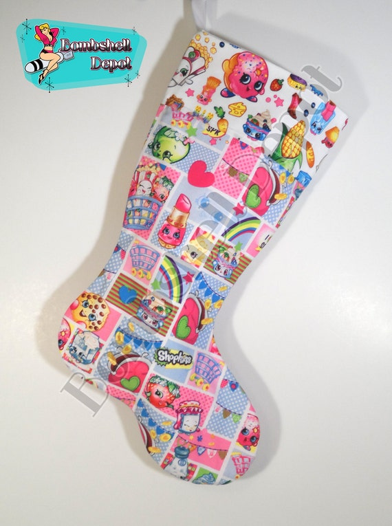 Shopkins Lined Christmas Stocking